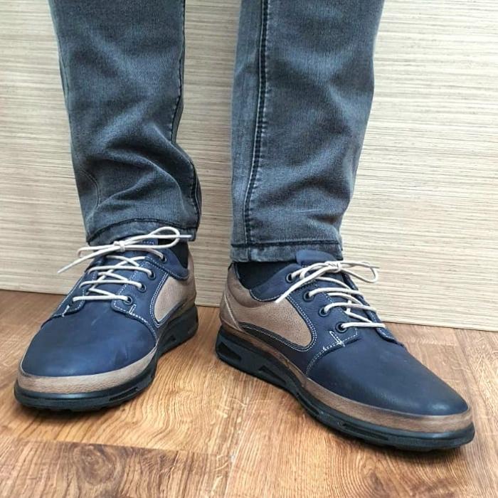 Pantofi Barbati Casual Piele Naturala Bleumarin Albert B00062 2
