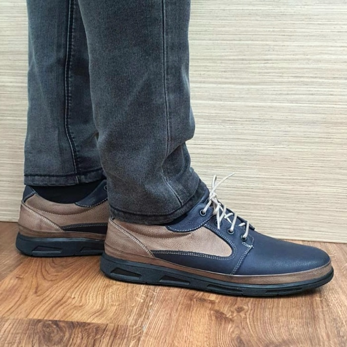 Pantofi Barbati Casual Piele Naturala Bleumarin Albert B00062 1