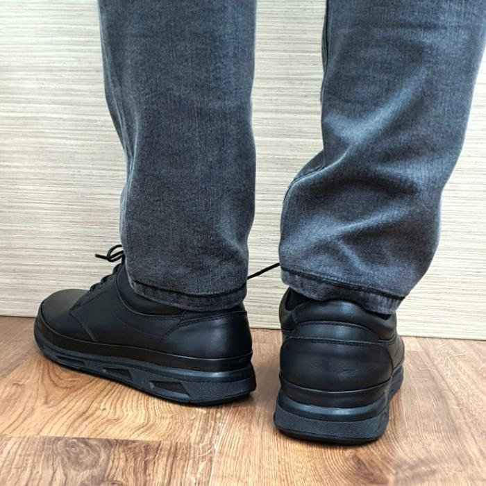 Pantofi Barbati Casual Piele Naturala Negri Albert B00063 3