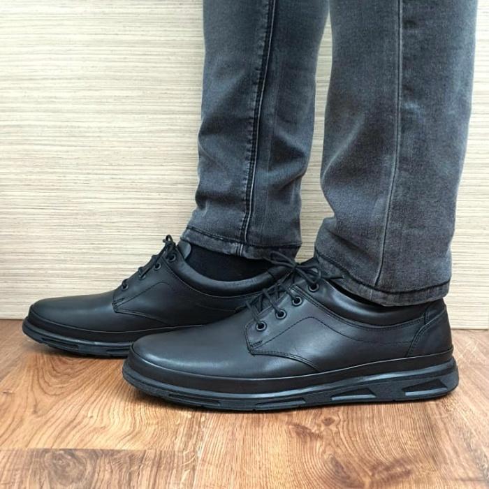 Pantofi Barbati Casual Piele Naturala Negri Albert B00063 0