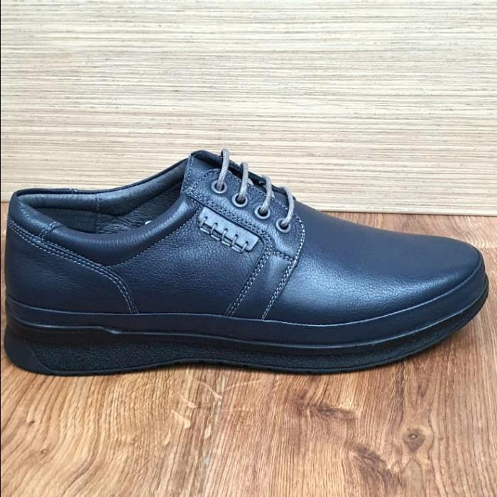 Pantofi Barbati Casual Piele Naturala Bleumarin Alexe B00064 4