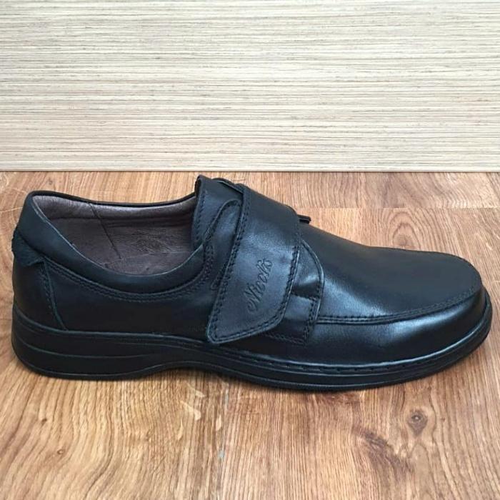 Pantofi Barbati Casual Piele Naturala Negri Adam B00066 4