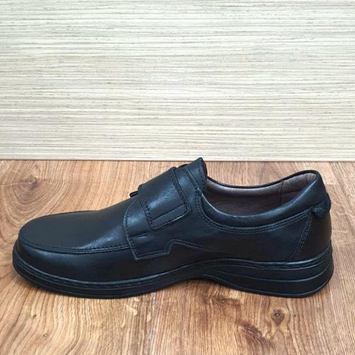 Pantofi Barbati Casual Piele Naturala Negri Adam B00066 5