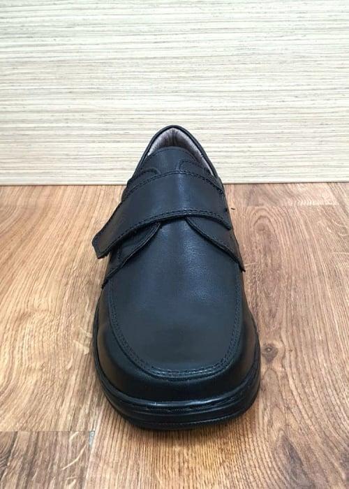 Pantofi Barbati Casual Piele Naturala Negri Adam B00066 [6]