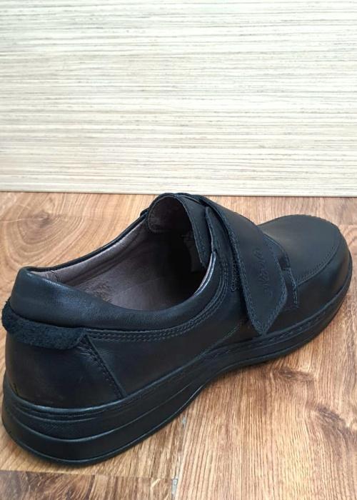 Pantofi Barbati Casual Piele Naturala Negri Adam B00066 7