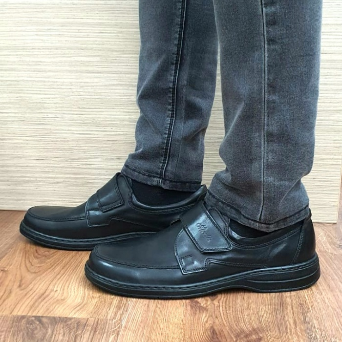 Pantofi Barbati Casual Piele Naturala Negri Adam B00066 1