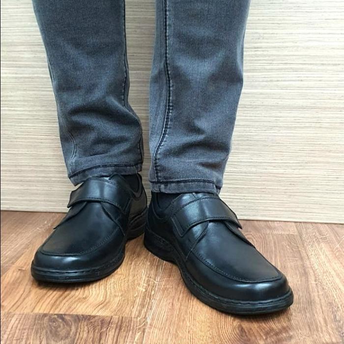 Pantofi Barbati Casual Piele Naturala Negri Adam B00066 2