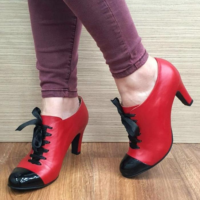 Pantofi cu toc Piele Naturala Guban Rosii Aman D02553 0