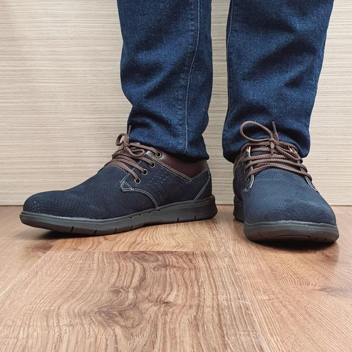 Pantofi Barbati Casual Piele Naturala Negri Aron B00071 2