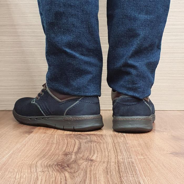 Pantofi Barbati Casual Piele Naturala Negri Aron B00071 3
