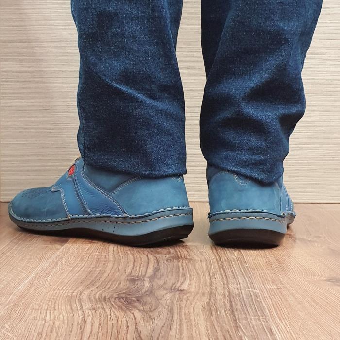 Pantofi Barbati Casual Piele Naturala Bleumarin Otter Alexandrin B00073 3
