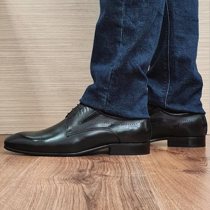 Pantofi Barbati Piele Naturala Negri Amos B00077 1
