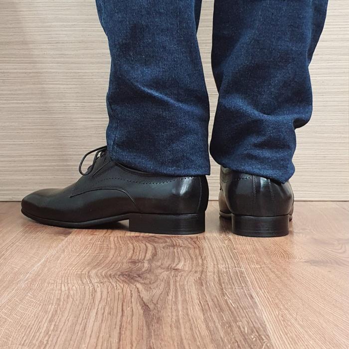 Pantofi Barbati Piele Naturala Negri Amos B00077 3