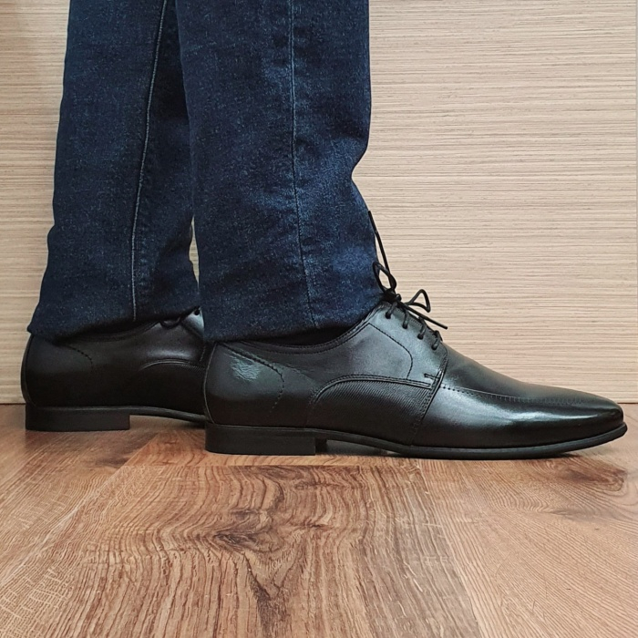Pantofi Barbati Piele Naturala Negri Achim B00080 0