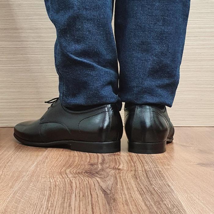 Pantofi Barbati Piele Naturala Negri Achim B00080 3