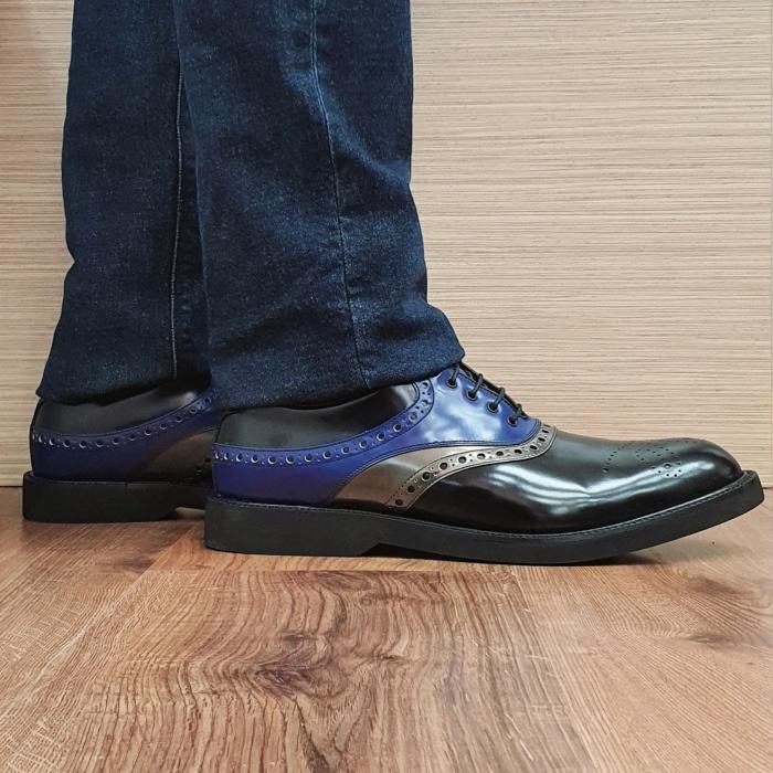 Pantofi Barbati Piele Naturala Negri Alessandro B00082 0