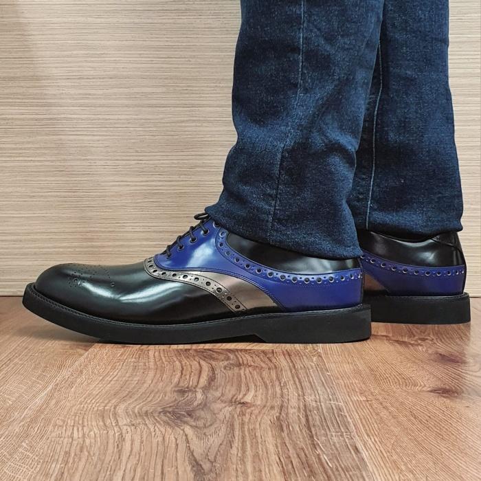 Pantofi Barbati Piele Naturala Negri Alessandro B00082 1