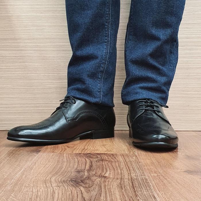 Pantofi Barbati Piele Naturala Negri Corneliu B00083 2