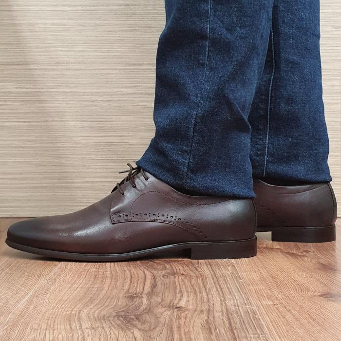 Pantofi Barbati Piele Naturala Maro Cirus B00087 1