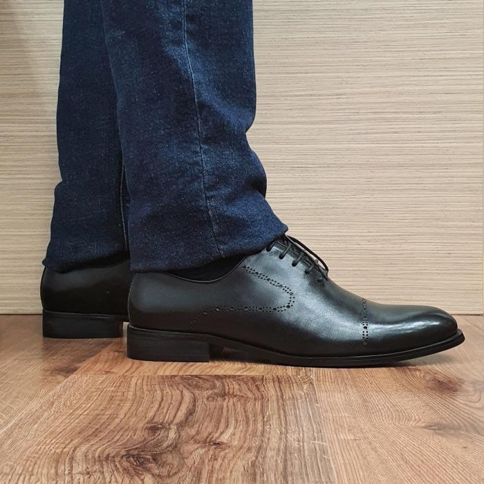 Pantofi Barbati Piele Naturala Negri Darius B00088 0