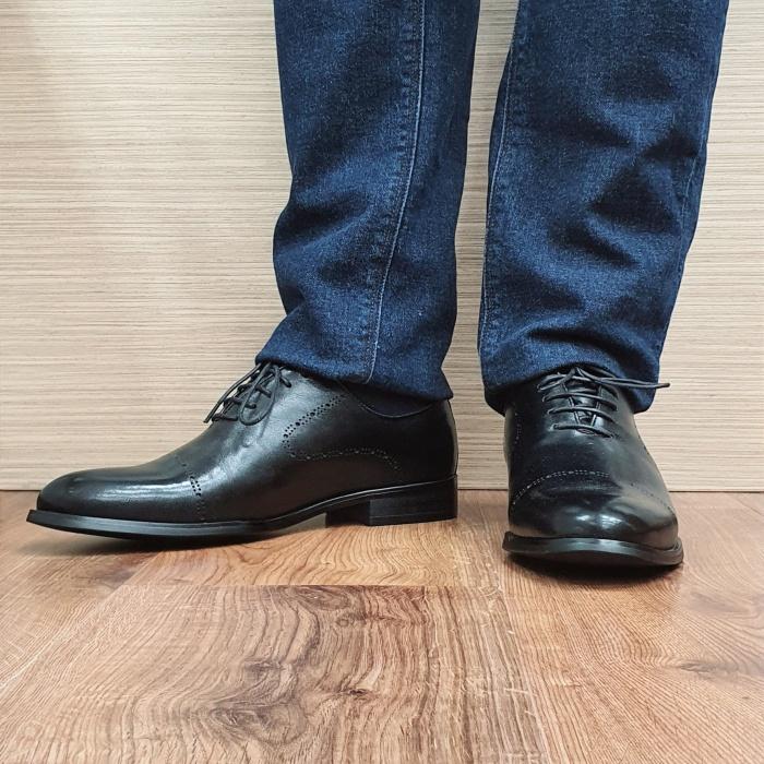 Pantofi Barbati Piele Naturala Negri Darius B00088 2
