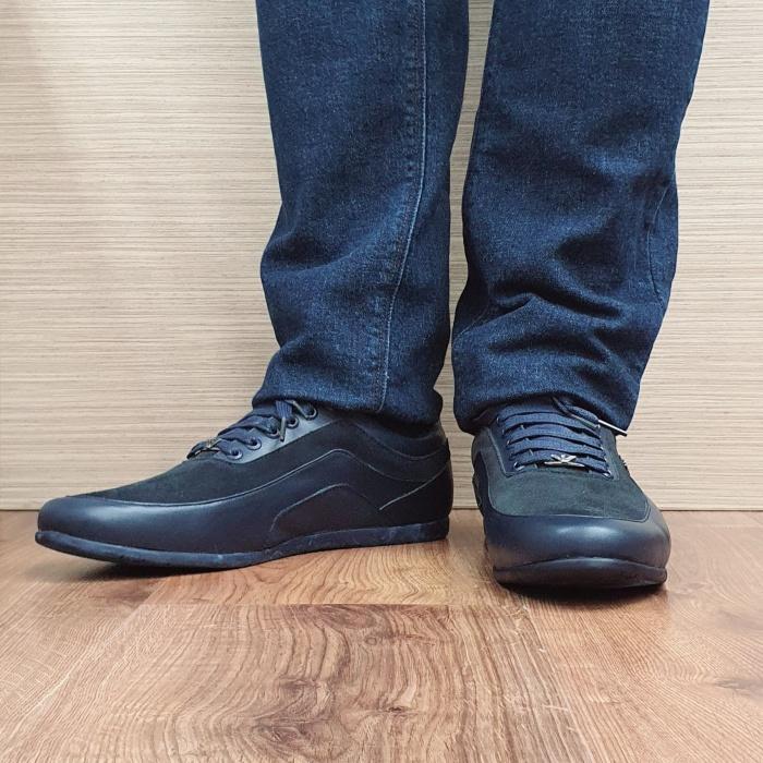 Pantofi Casual Barbati Piele Naturala Bleumarin David B00090 2