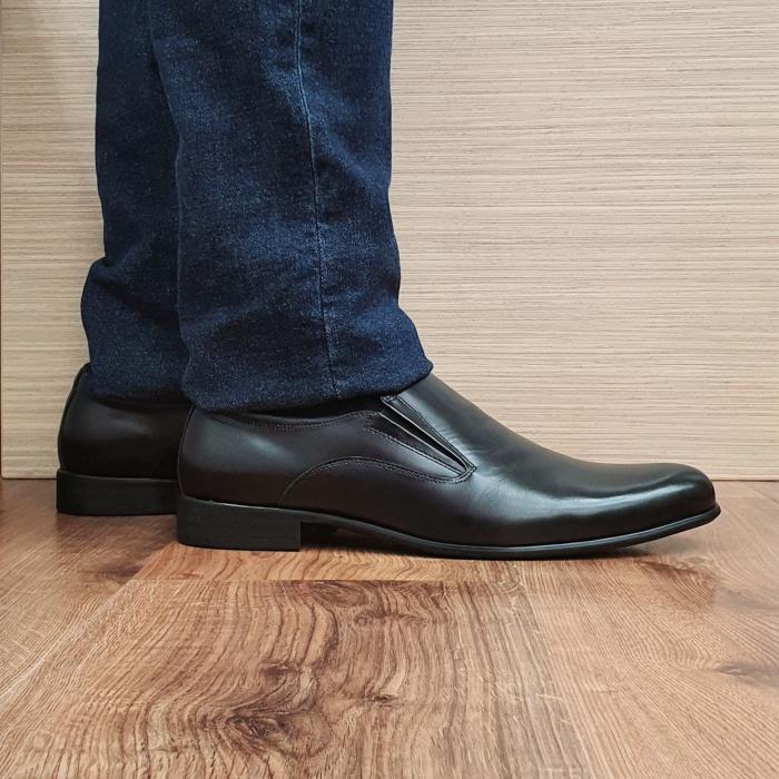 Pantofi Barbati Piele Naturala Negri Ananias B00093 0