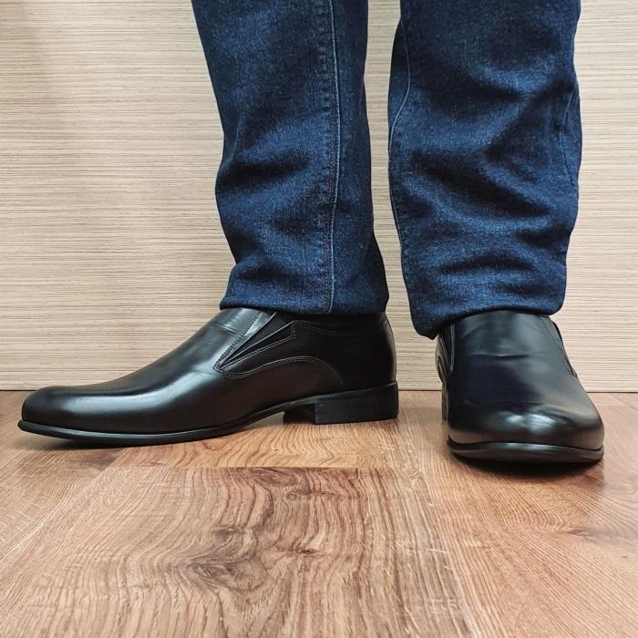Pantofi Barbati Piele Naturala Negri Ananias B00093 2