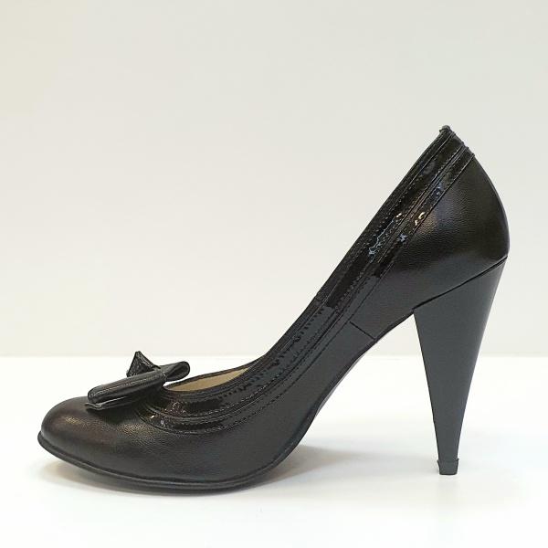 Pantofi cu toc Piele Naturala Negri Moda Prosper Angia D02593 1