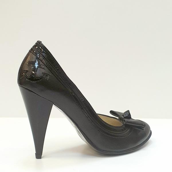 Pantofi cu toc Piele Naturala Negri Moda Prosper Angia D02593 3