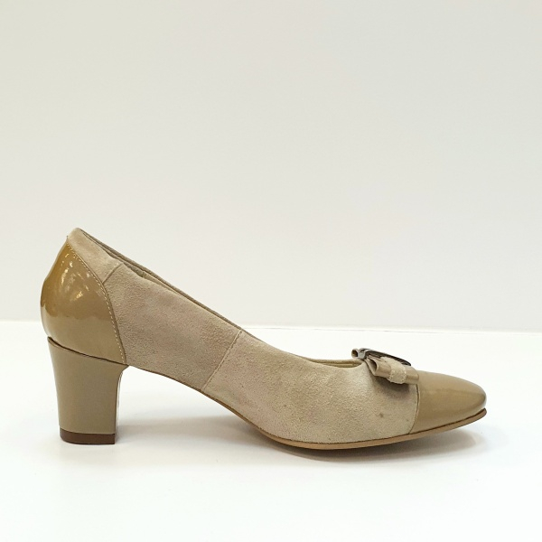 Pantofi cu toc Piele Naturala Bej Corina D02603 0