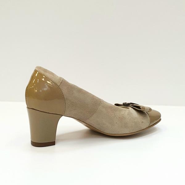 Pantofi cu toc Piele Naturala Bej Corina D02603 3