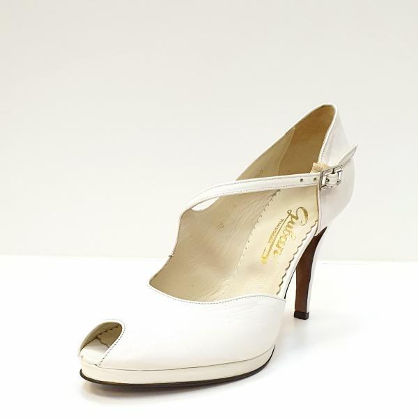 Pantofi Dama Piele Naturala Guban Albi Floria D02608 2