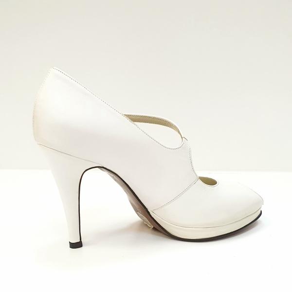 Pantofi Dama Piele Naturala Guban Albi Floria D02608 3