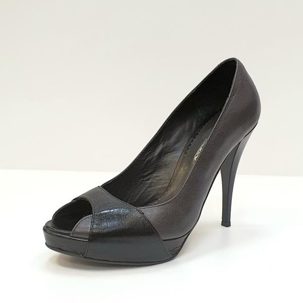 Pantofi Dama Piele Naturala Gri Dina D02609 [2]