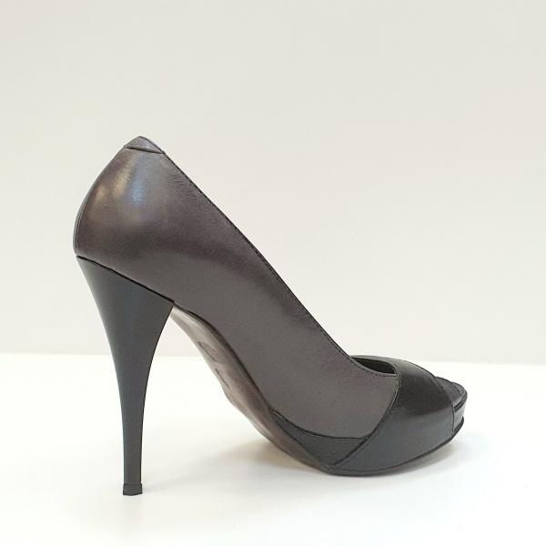 Pantofi Dama Piele Naturala Gri Dina D02609 [3]