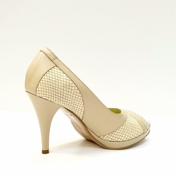 Pantofi Dama Piele Naturala Bej Edena D02610 [3]