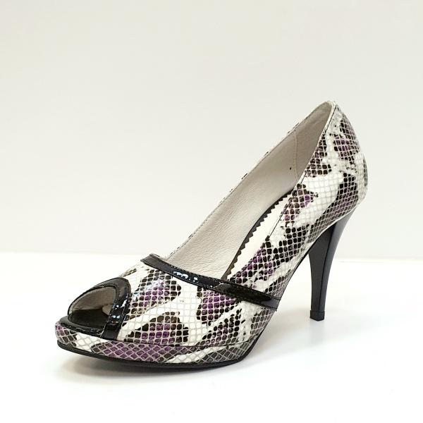 Pantofi Dama Piele Naturala Multicolori Hofolia D02611 2