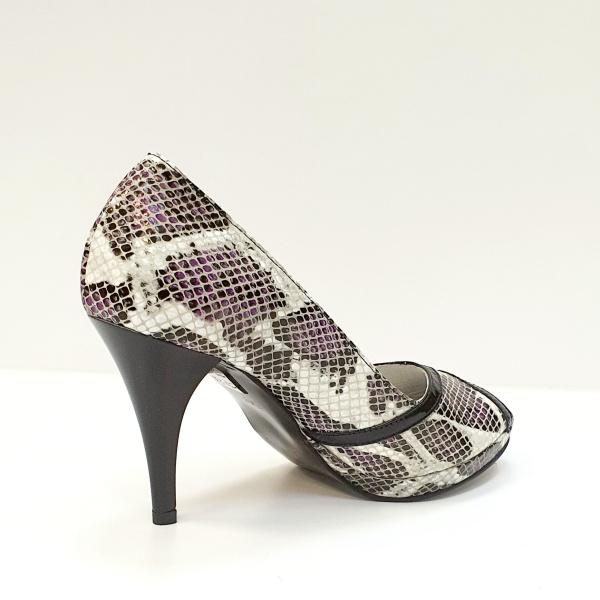 Pantofi Dama Piele Naturala Multicolori Hofolia D02611 3