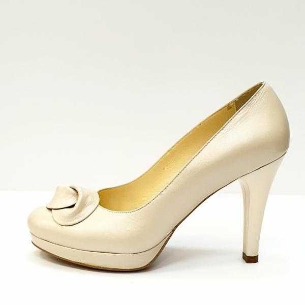 Pantofi cu toc Piele Naturala Bej Adia D02613 1