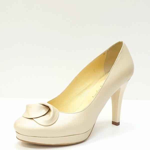 Pantofi cu toc Piele Naturala Bej Adia D02613 2