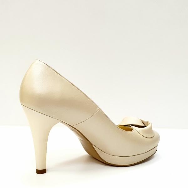 Pantofi cu toc Piele Naturala Bej Adia D02613 3