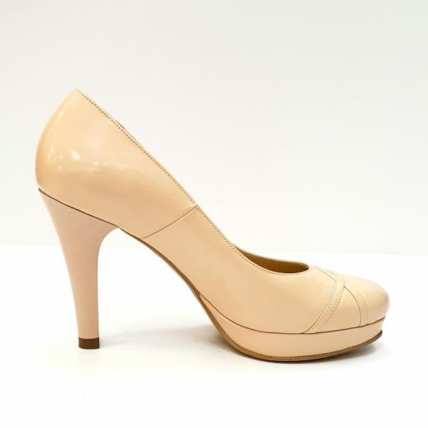 Pantofi cu toc Piele Naturala Nude Asinefa D02614 0