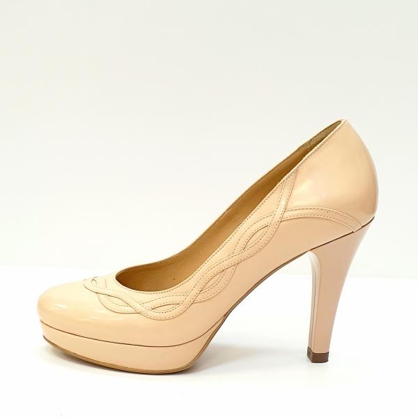 Pantofi cu toc Piele Naturala Nude Asinefa D02614 1