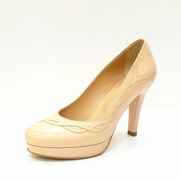 Pantofi cu toc Piele Naturala Nude Asinefa D02614 2
