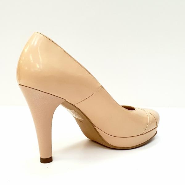 Pantofi cu toc Piele Naturala Nude Asinefa D02614 3