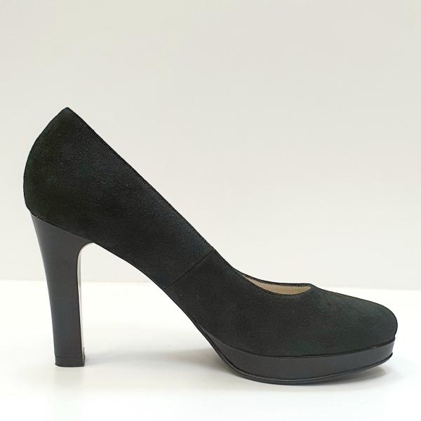 Pantofi cu toc Piele Naturala Negri Ezra D02616 0