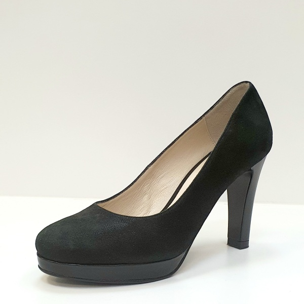 Pantofi cu toc Piele Naturala Negri Ezra D02616 2