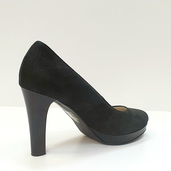 Pantofi cu toc Piele Naturala Negri Ezra D02616 3