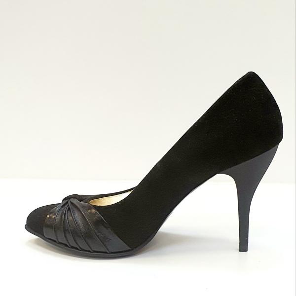 Pantofi cu toc Piele Naturala Moda Prosper Negri Illy D02620 1